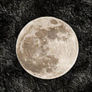 Just A Little Ole Super Moon Print by Andee Design
