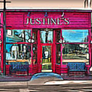 Justine's Ice Cream Parlour Art Print