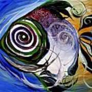 J.v. Wishin Fish 3 Art Print