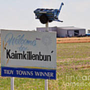Kaimkillenbun Sign Art Print by Joanne Kocwin