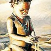 Kalahari Little Boy Art Print
