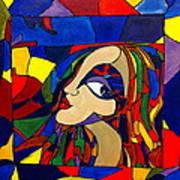 Kaleidoscope Girl Art Print