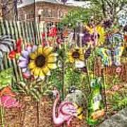 Kansas Flower Market Usa Art Print