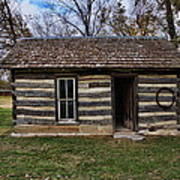 Kansas Log Cabin Art Print