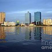 Kaohsiung City Waterfront In The Late Afternoon Art Print