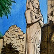 Karnak Temple Egypt Print by Irina Sztukowski