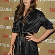 Kate Beckinsale Wearing An Yves Saint Art Print