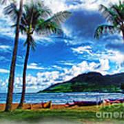 Kauai Beach And Palms Art Print