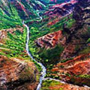 Kauai River Canyon Art Print