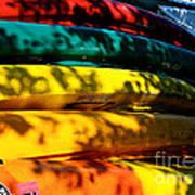 Kayak Colors Art Print