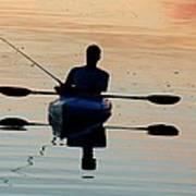 Kayak Fisherman Art Print
