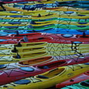Kayak Row Art Print