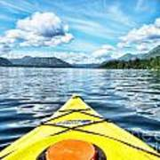 Kayaking In Bc Art Print