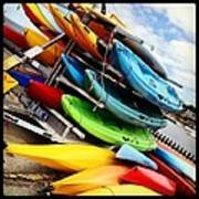 Kayaks For Rent In Rockport Art Print by Matthew Green