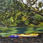 Kayaks On The Little Sandy Art Print
