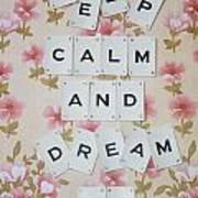 Keep Calm And Dream On Art Print