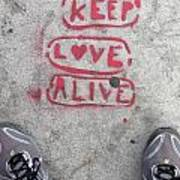 Keep Love Alive Art Print