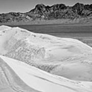 Kelso Sand Dunes 2 Bw Art Print