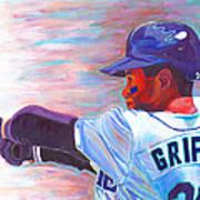 Ken Griffey Jr Art Print by Jeff Gomez
