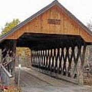 Keniston Covered Bridge Art Print