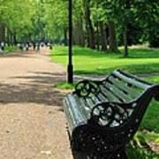 Kensington Park Bench Art Print