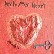 Key To My Heart Art Print by Jeannie Atwater Jordan Allen