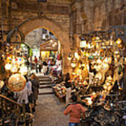 Khan El Khalili Market In Cairo Art Print