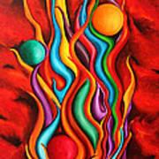 Khaos 2010 Art Print by Simona  Mereu