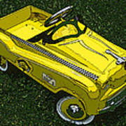 Kid's Pedal Car Taxi Print by Samuel Sheats
