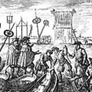 Killing Of Anabaptists Art Print by Granger
