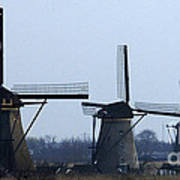 Kinderdijk Windmills 2 Art Print