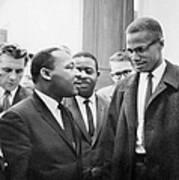 King And Malcolm X, 1964 Art Print
