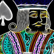 King Of Spades - V4 Art Print by Wingsdomain Art and Photography