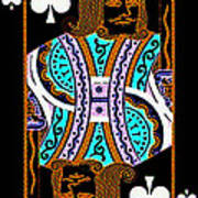 King Of Spades Print by Wingsdomain Art and Photography