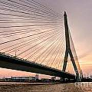 King Rama Bridge Bangkok Art Print