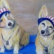 Kipper And Tristan Art Print by Trudy Morris