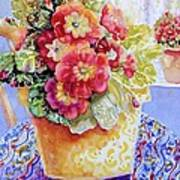 Kitchen Primrose II Art Print by Ann  Nicholson