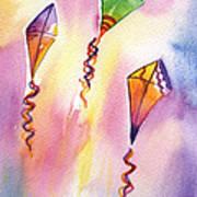 Kite Rockets Print by Lydia Irving
