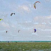 Kites Over The Bay Art Print