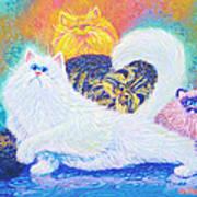 Kitties For Jenny Art Print