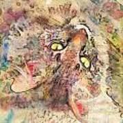 Kitty Fluffs Art Print by Marilyn Sholin