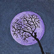 Kittyboy Moon Art Print