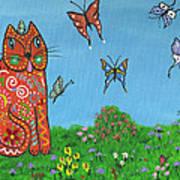 Kittyboy's Butterflies Art Print