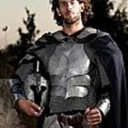 Knight In Shining Armour Art Print by Yedidya yos mizrachi