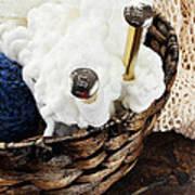 Knitting Needles Art Print