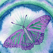 Knowingness Butterfly Art Print