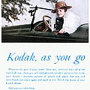 Kodak Advertisement, 1917 Art Print
