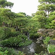 Kokoen Samurai Gardens - Himeji City Japan Art Print by Daniel Hagerman