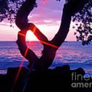 Kona Sunset Hawaii Art Print