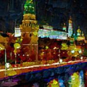 Kremlin Lights Art Print